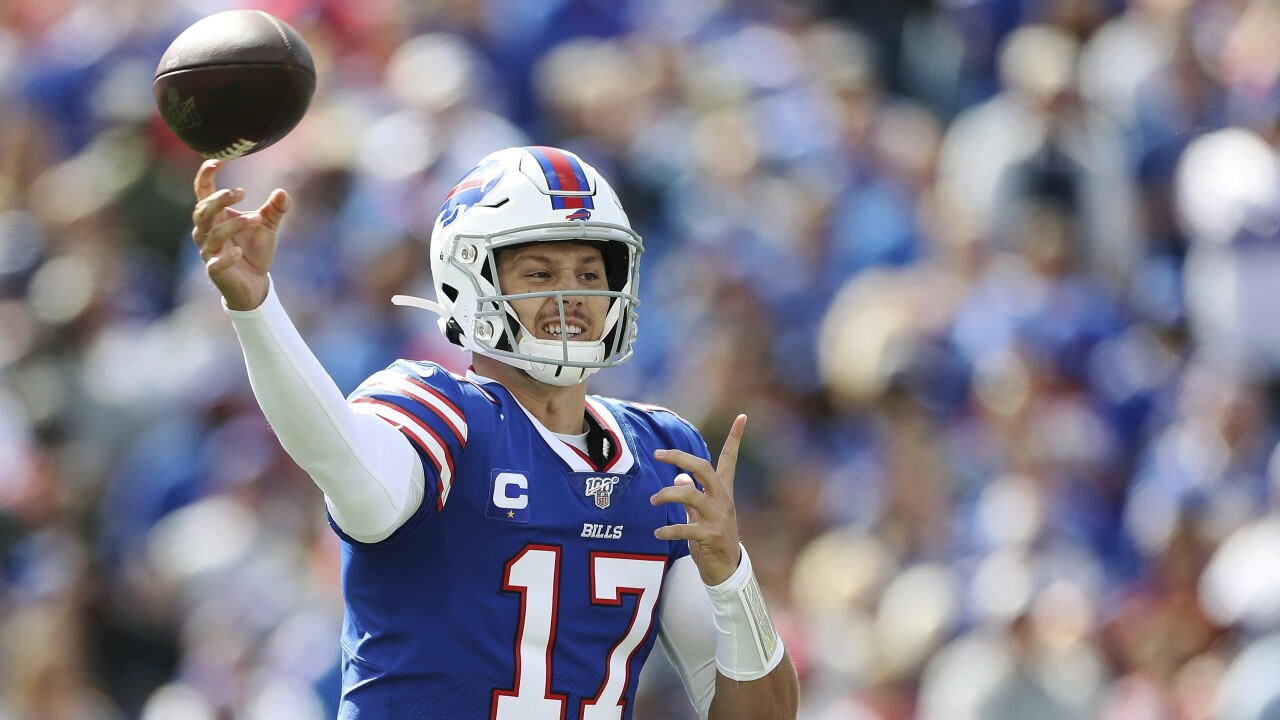 Josh Allen struggles early against the New England Patriots