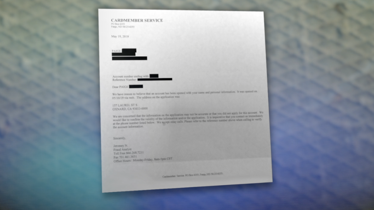 KNXV Cardmember Service Fishy Letter