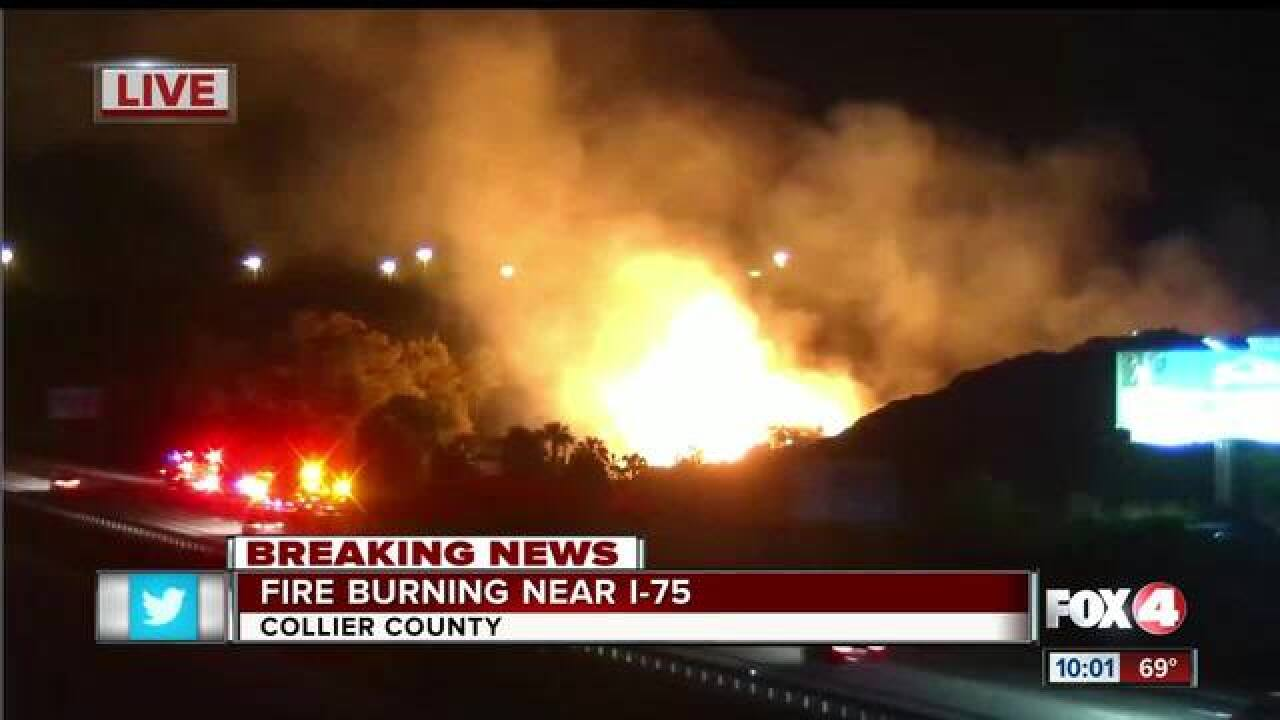 Mulch fire in Lee County 100% contained