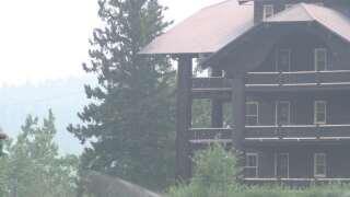 Visitors enjoy East Glacier despite fires