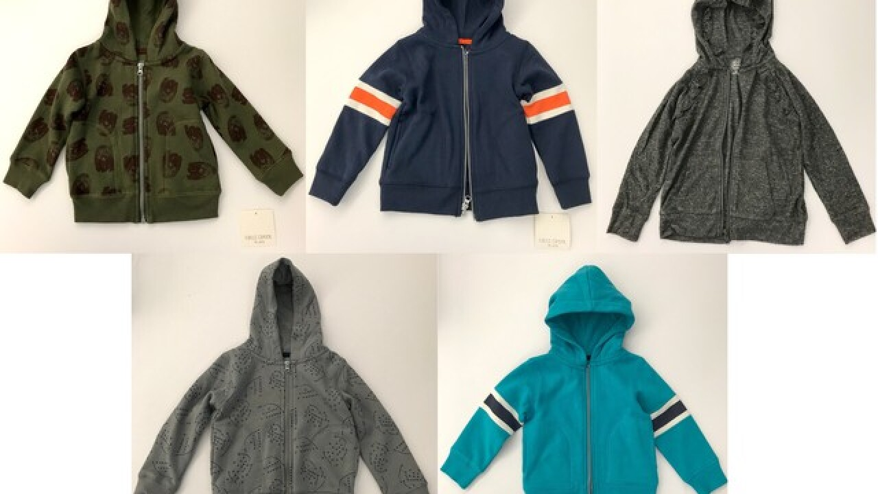 Meijer recalls 25,000 toddler zip-up hoodies due to choking hazard