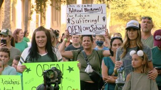 Hundreds rally at the Capitol to reopen Arizona schools