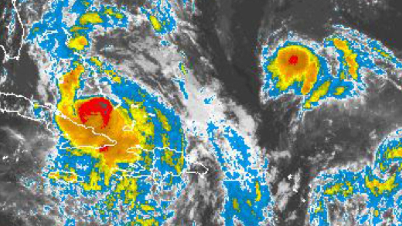 Could Hurricane Matthew and Tropical Storm Nicole collide?
