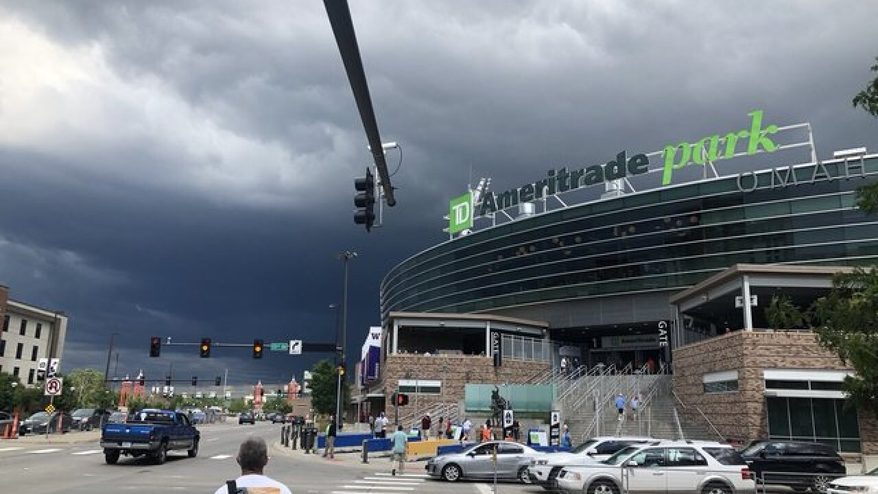 Rain causes delays at College World Series