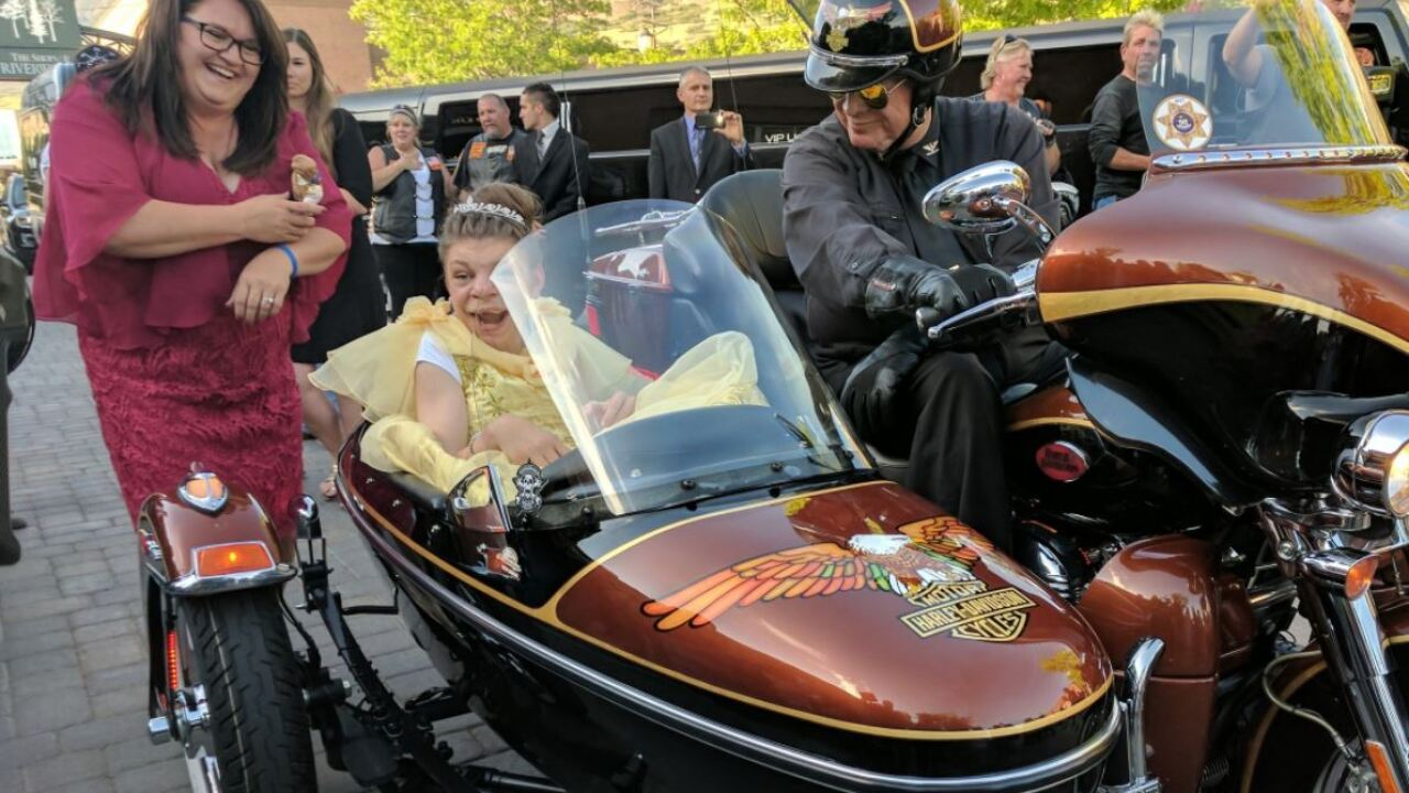 Motorcycles, Disney princesses combine to create magical night for Paysonteen