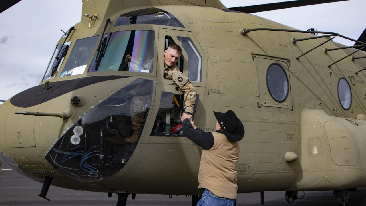 National Guard Airman gets a Cody Wyoming hometown sendoff before deployment