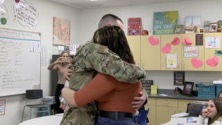 Military reunion at Queen Creek Middle School