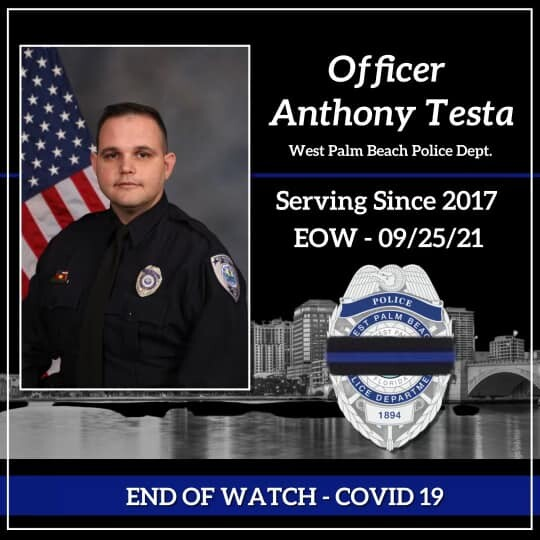 Death announcement for Anthony Testa