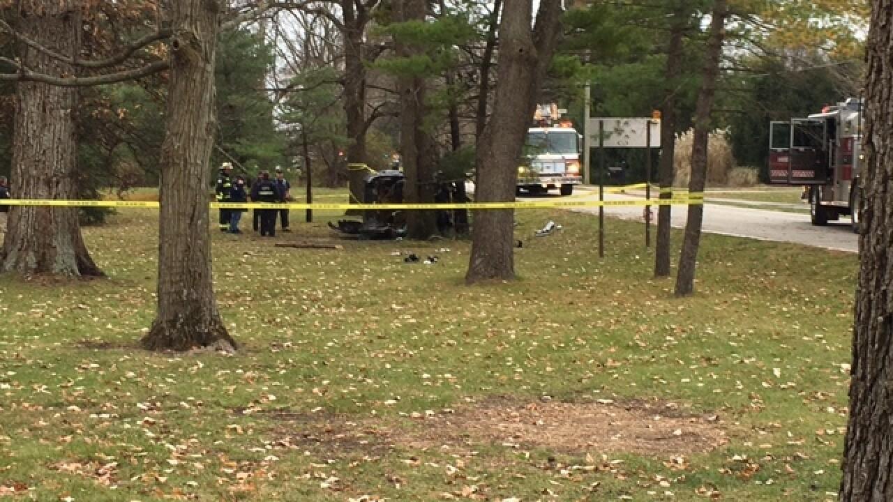 Person killed in fiery Carmel crash