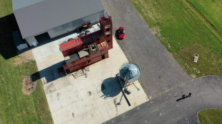 Bargersville Fire utilizes this grain bin at their training facility to prepare for farming accidents