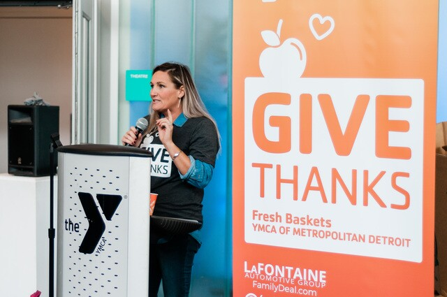 PHOTOS:Metro Detroit YMCA preps healthy food baskets for families in need