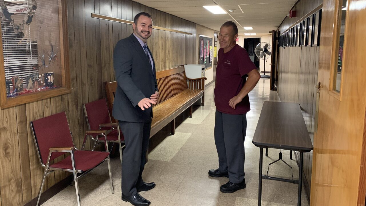 He started as a custodian. Now he is assistant principal.