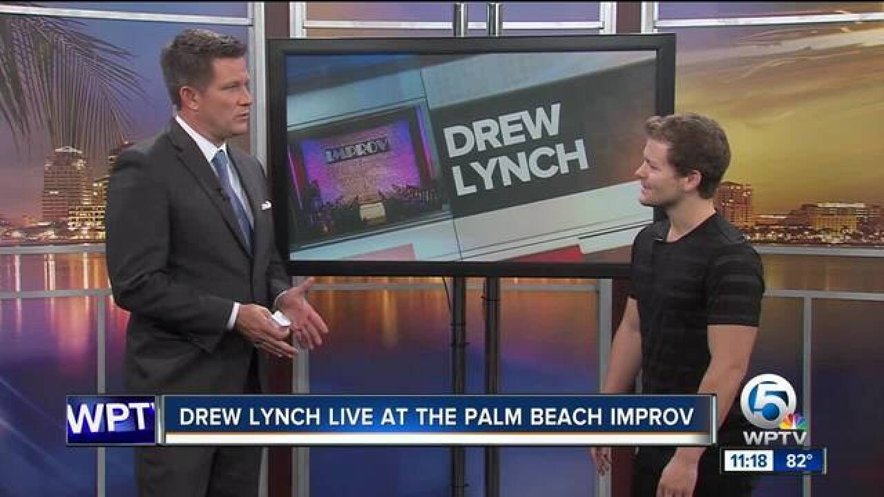 Comedian Drew Lynch at the Palm Beach Improv