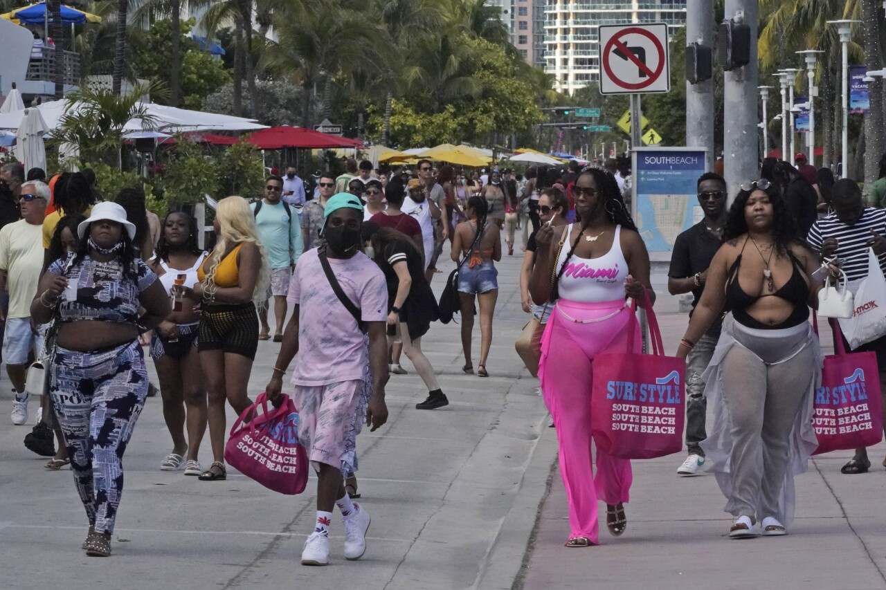 South Beach spring break crowds, March 22, 201