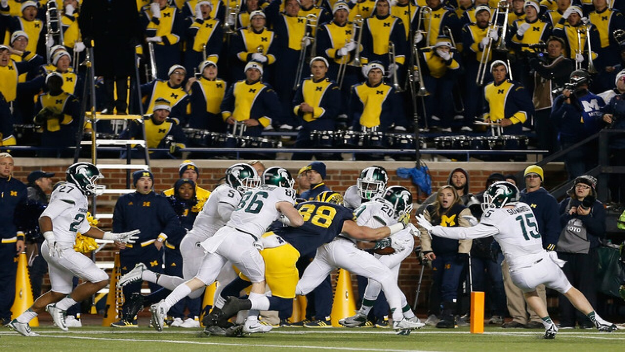 Michigan hosts Michigan State for first time since botched punt