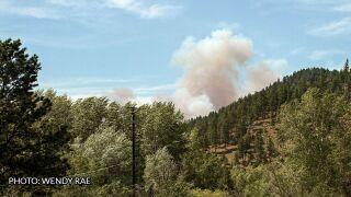 Wildfire near Clancy