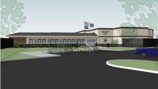 Carbon County Jail rendering