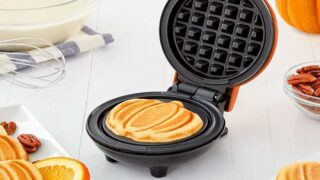 You'll Want To Use This Mini Pumpkin Waffle Maker For Every Breakfast This Fall