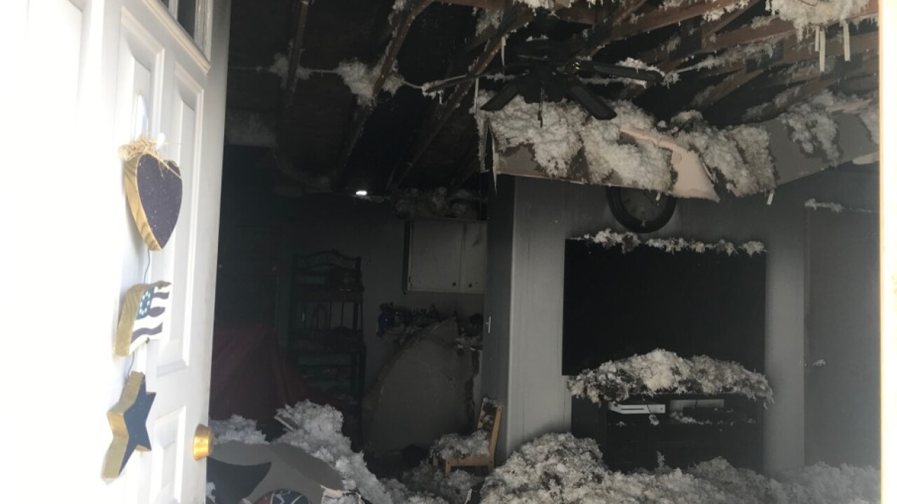 Structure Fire at N. Belmar in Kalispell