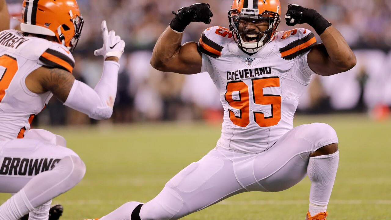 NFL player Myles Garrett says he was punched during an interaction with a fan