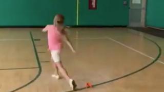 Canton third grader field goal