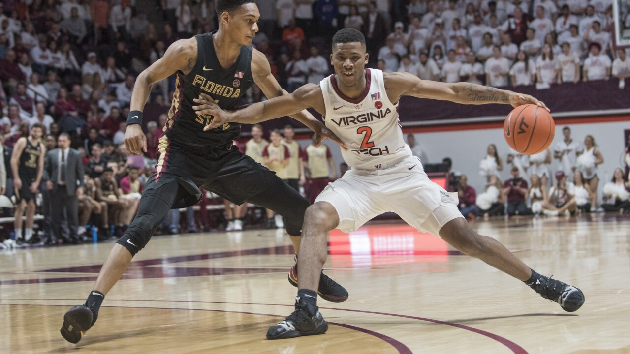 Virginia Tech men's basketball falls to No. 5 Seminoles, 74-63