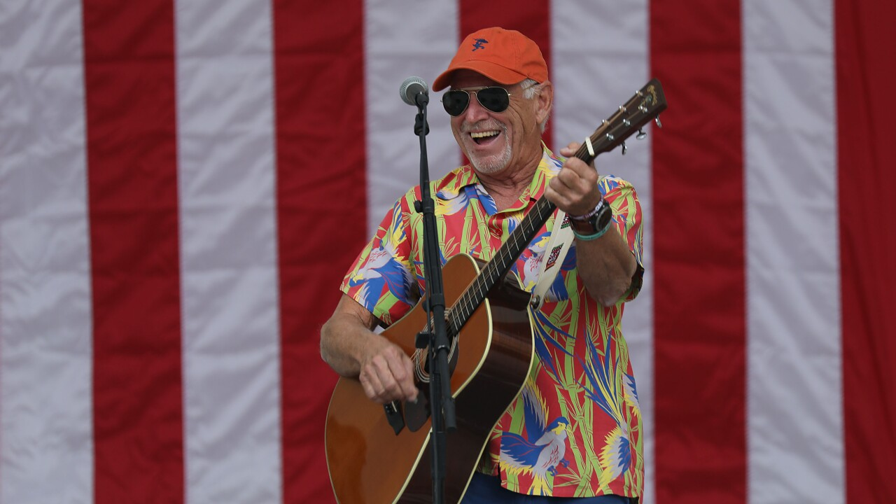 Jimmy Buffet Performs At Get Out The Vote Rally With Democrats Gillum And Nelson