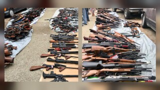 A man has been charged after police found more than 1,000 guns in his Los Angeles home