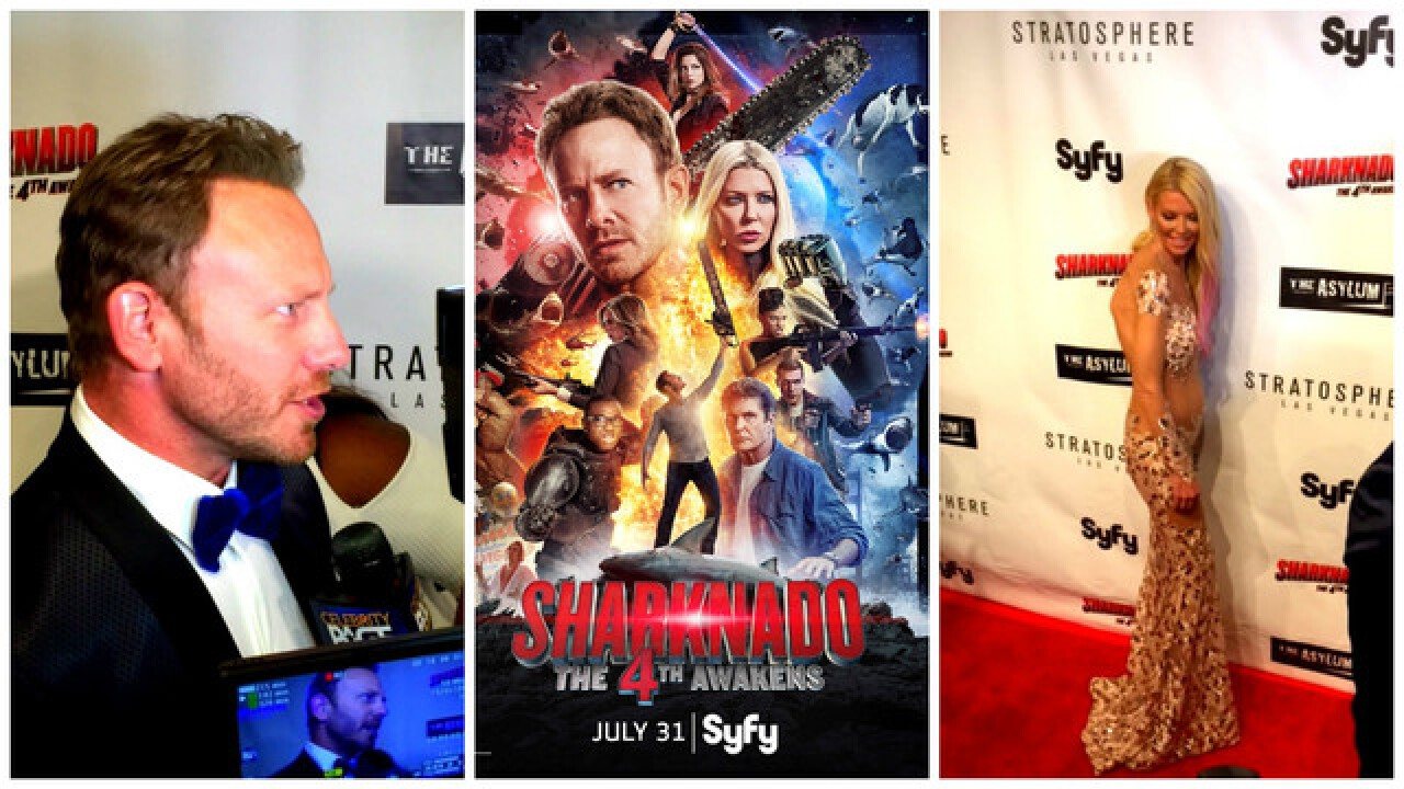Stars of 'Sharknado 4' take bite out of red carpet in Las Vegas