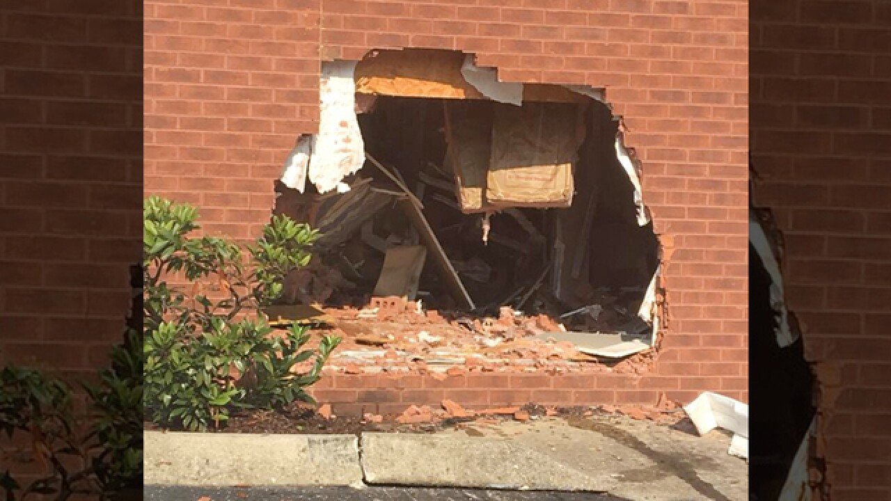 Car Crashes Into Building In Cookeville