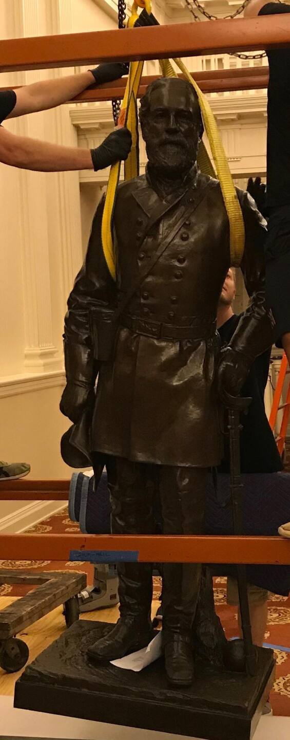 Robert E. Lee statue removed from Virginia State Capitol