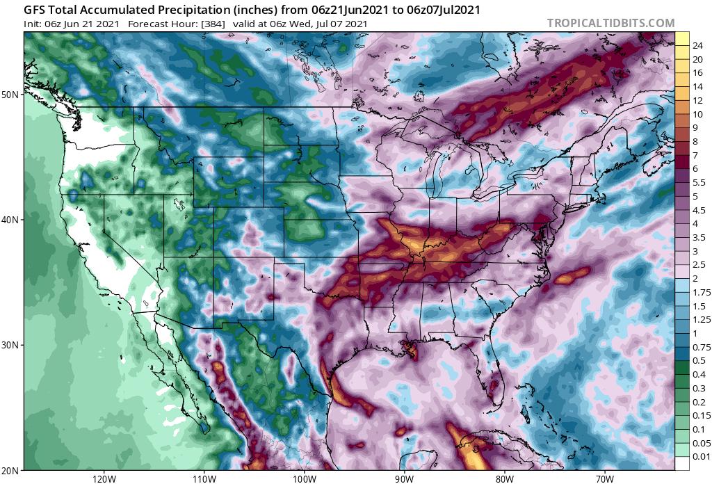 Rainfall Forecast - Next 15 Days