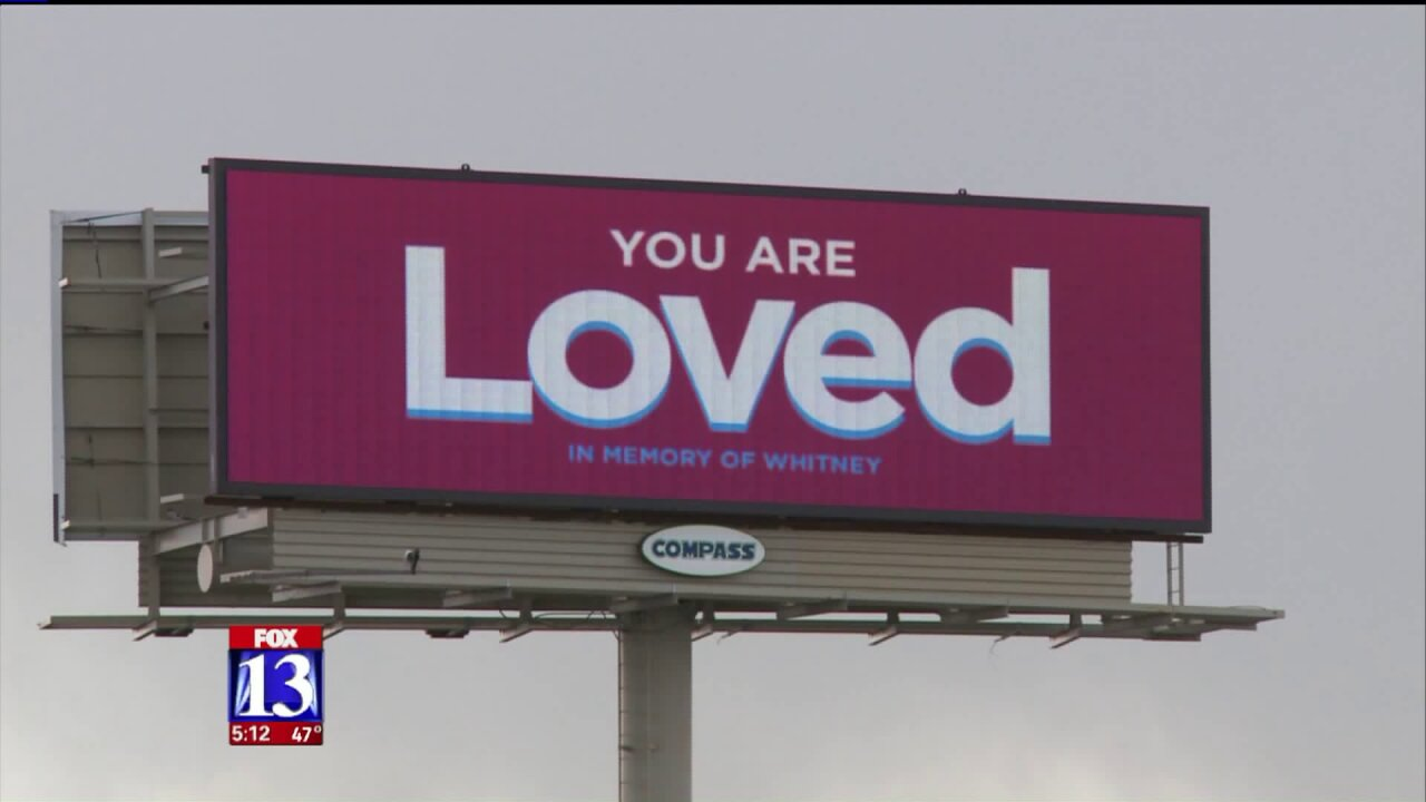 'You are loved' billboards aimed at Utahn's self-esteem