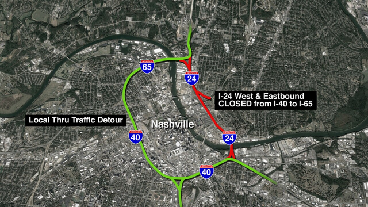 I-24 Final Weekend Closure For Bridge Work