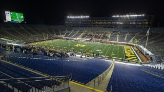 Michigan Stadium nearly empty 2020