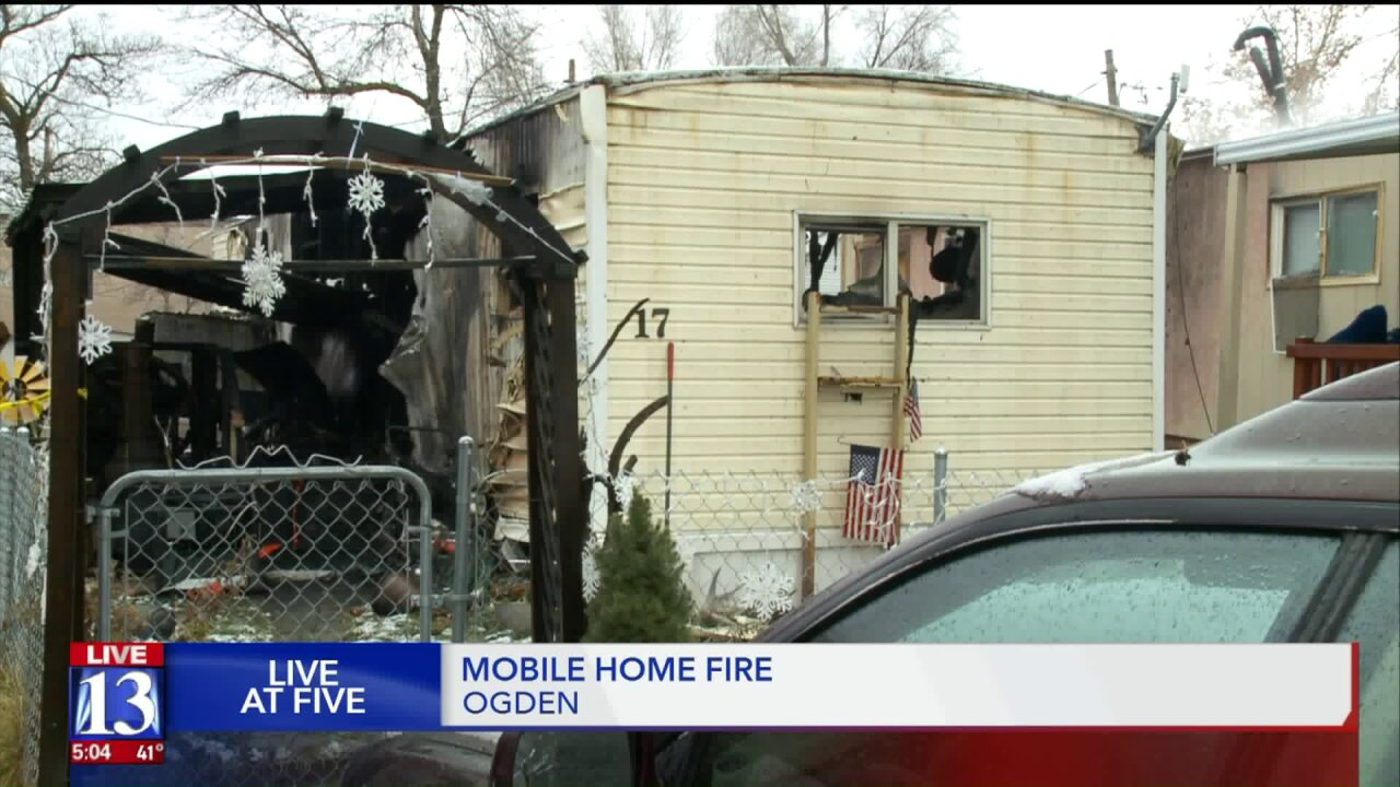 Ogden woman on life support after overnight trailer parkfire