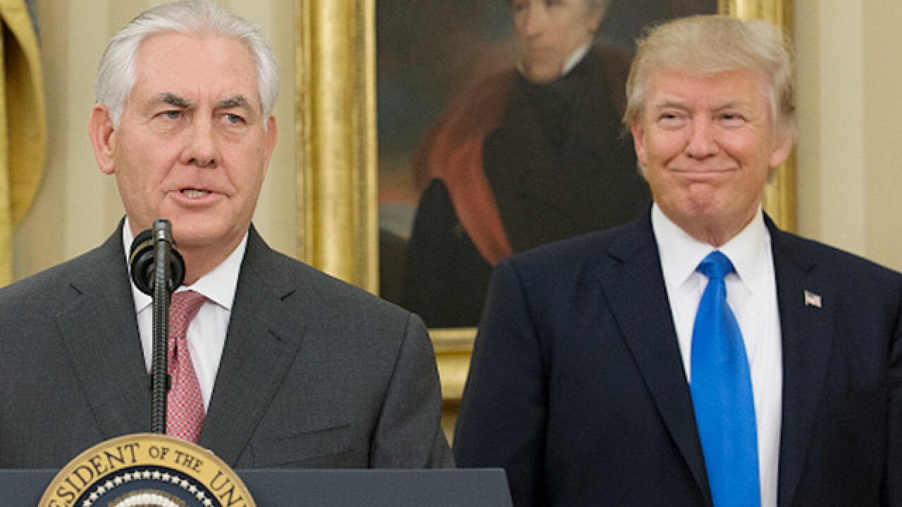 Trump, Tillerson meet after 'moron' story