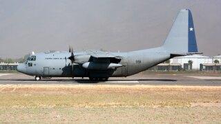 A Chile Air Force Lockheed C-130 Hercules seen