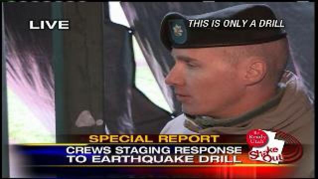National Guard test communications as part of ShakeOut drill