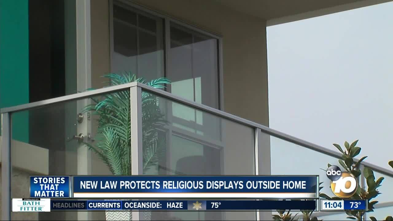 New law protects religious displays outside the home