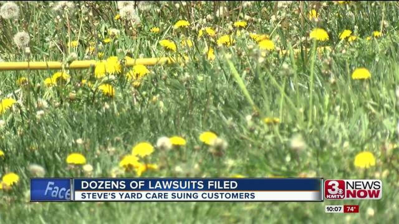 Customers: Yard-care service suing for bad bills