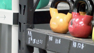 Kettlebells gym equipment