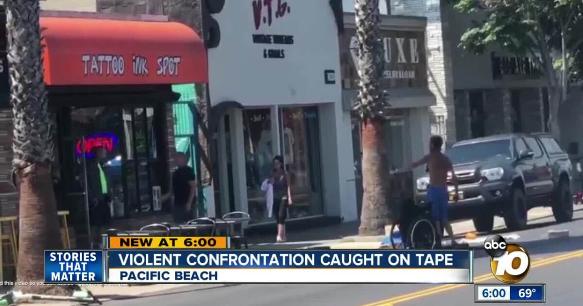 Confrontation between PB worker, homeless man caught on tape