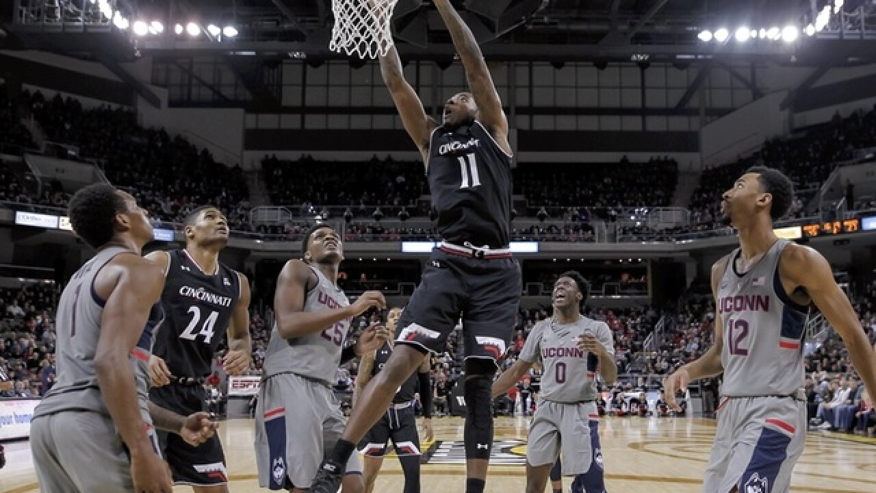Clark scores 17 as No. 11 Cincy rebounds, beats UConn 77-52