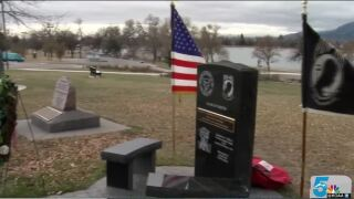 Wreath laying ceremony at Memorial Park