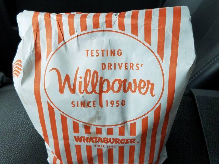 Whataburger to-go bag