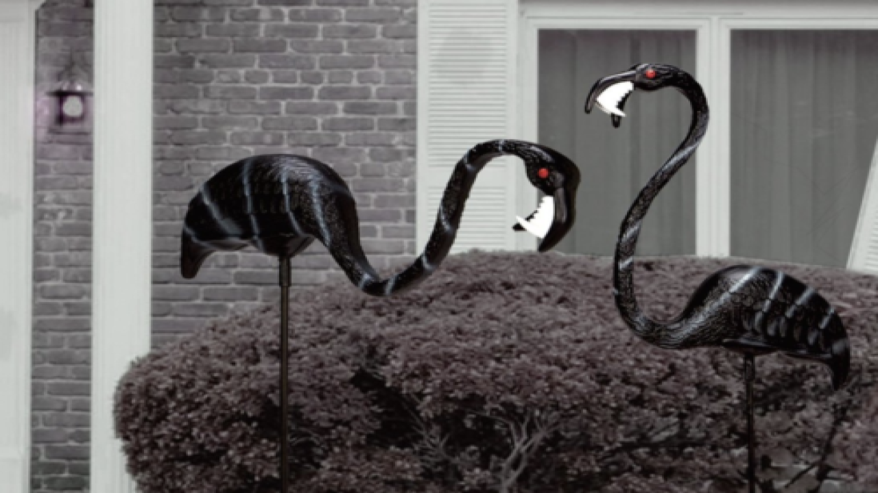 Zombie Flamingo Lawn Ornaments Are The Halloween Decorations You Should Add To Your Yard This Year