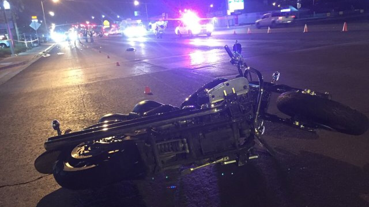 Woman critical after in North Las Vegas crash