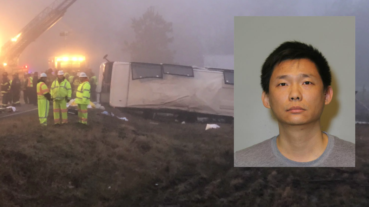 2 people killed, dozens hurt in I-95 bus crash; charges filed against driver