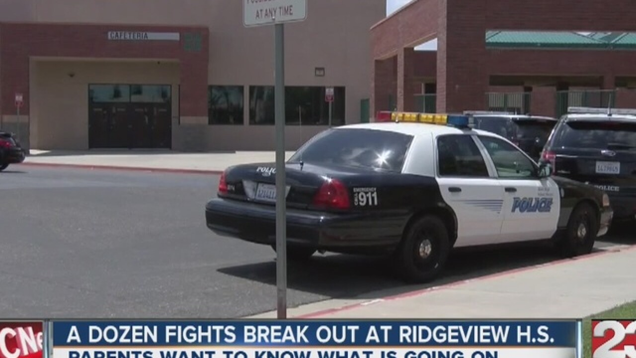 Fights break out at Ridgeview High School